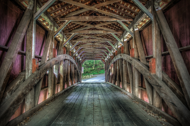 One of the 29 covered bridges in Lancaster County, PA. Order a print of this image.