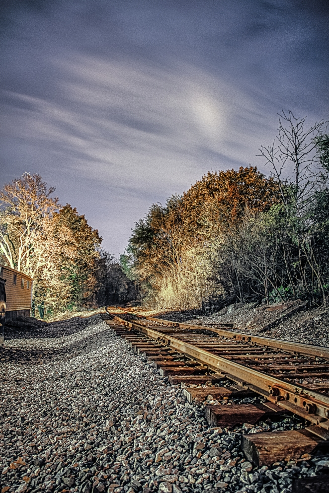 These are the train tracks that cross Millwood Ave, in Winchester.  I took this image in 2012 and am just now processing it.