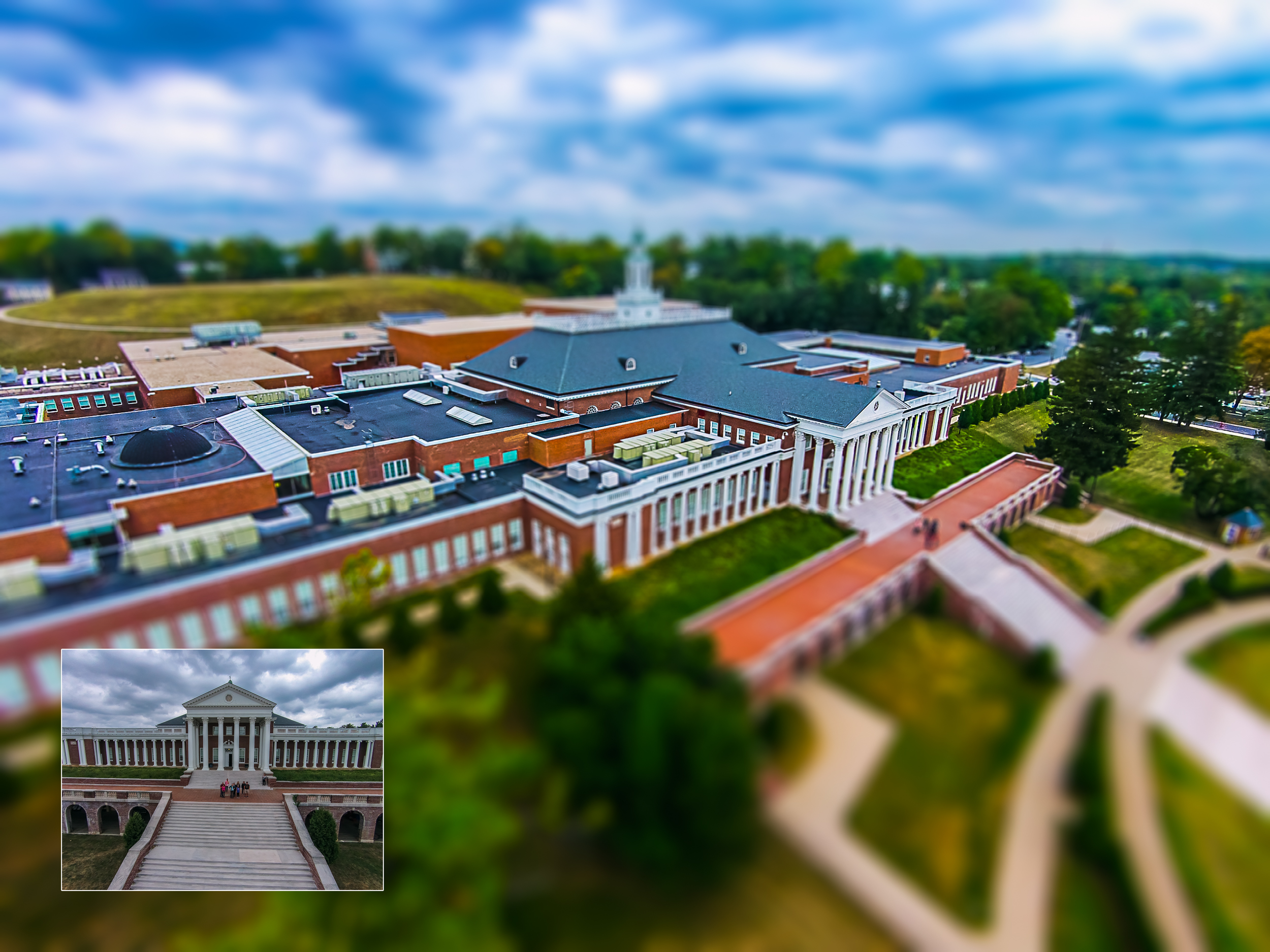 I took this group through the workflow of capturing and aerial image and editing it with a miniature effect.
