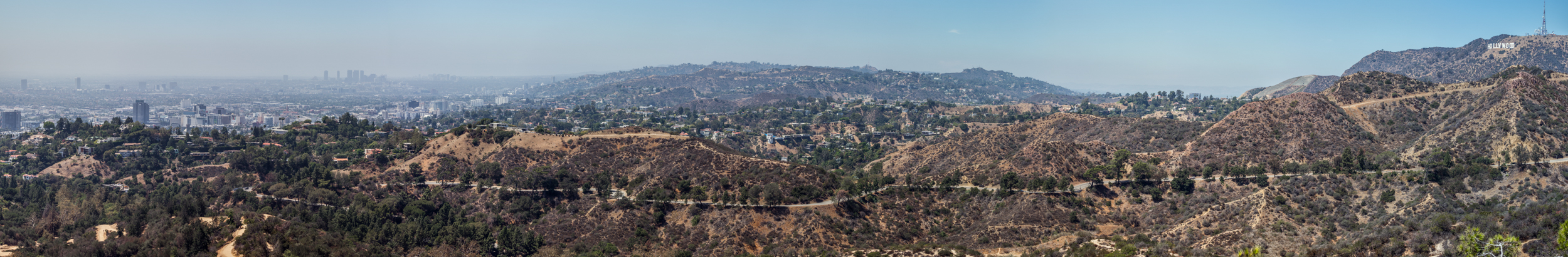 That's the Hollywood sign at the very top right of the image.