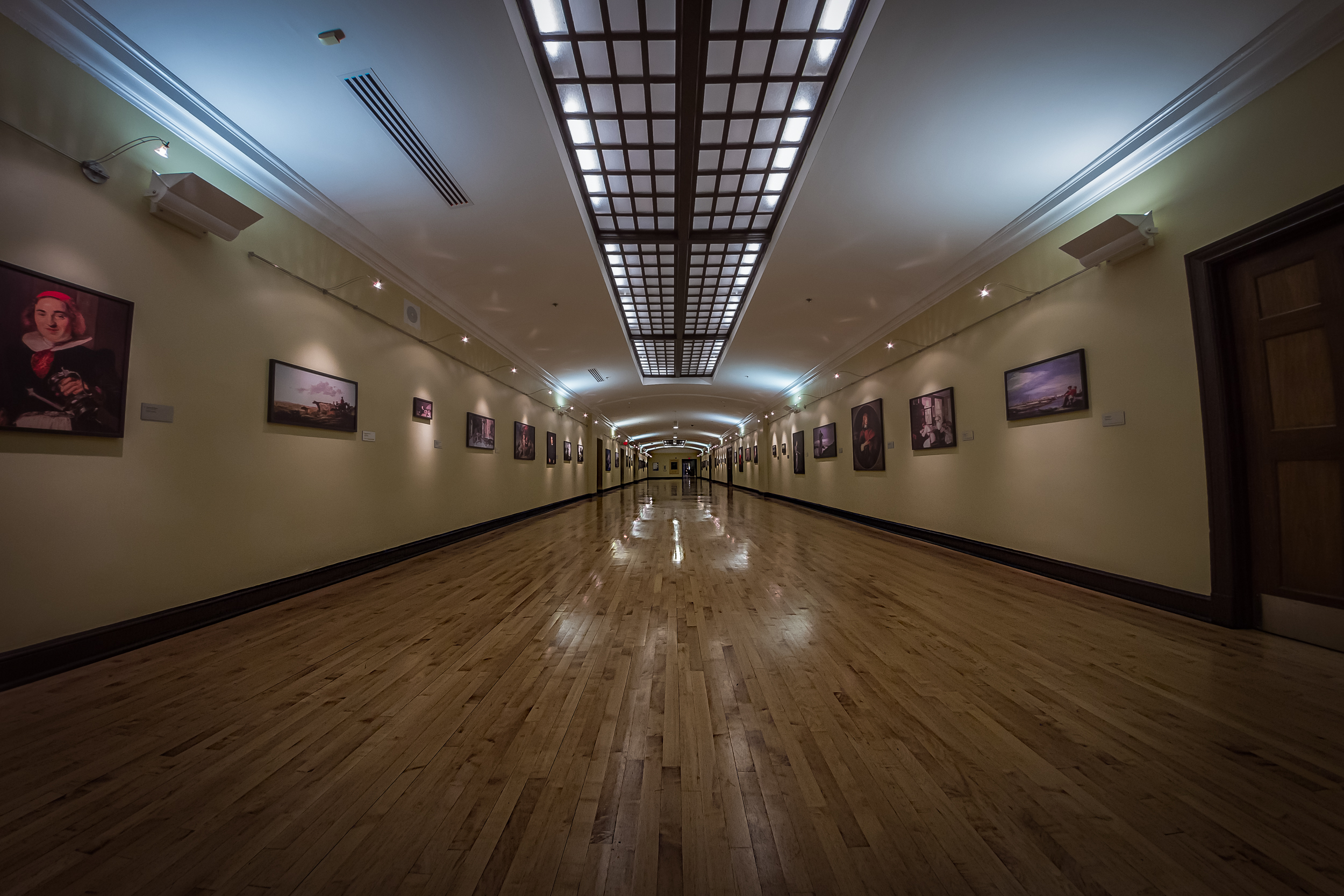 """One of the really cool """"new"""" hallways on the tour of the school today."""