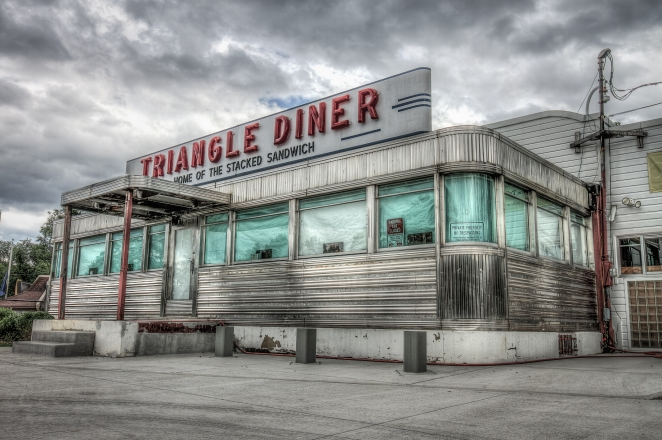 The Triangle Diner on the corner of Pleasant Valley and Handley Blvd in Winchester, VA. | Order a print of this image.