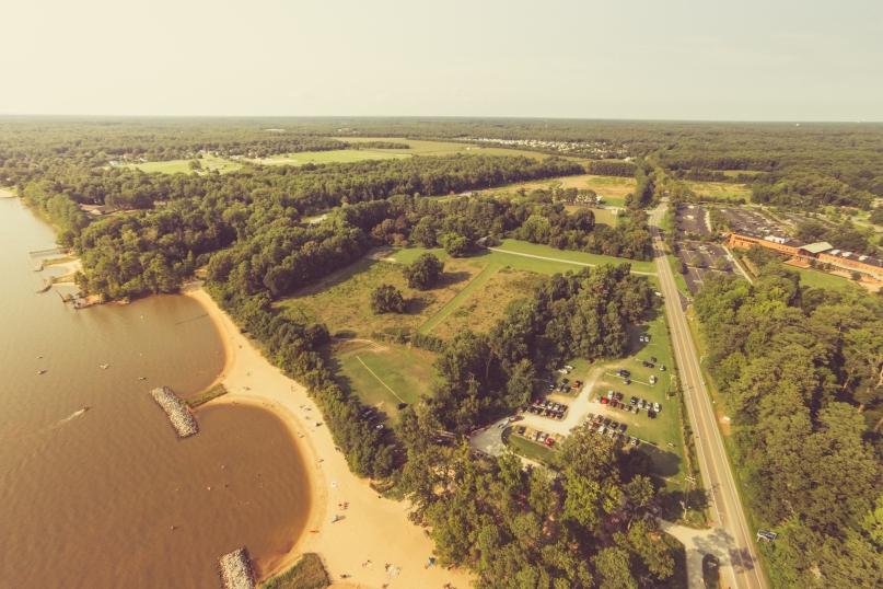 Jamestown Beach Park near Williamsburg, VA